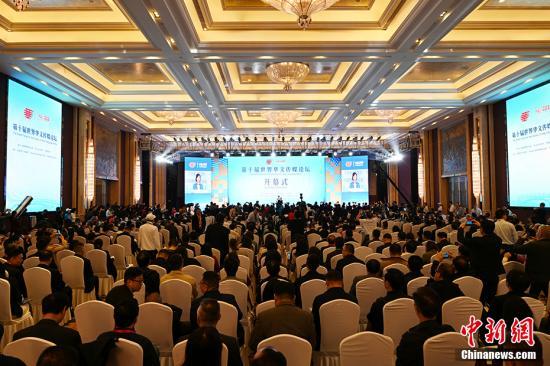 10月12日,由中國國務院僑務辦公室、河北省人民政府、中國新聞社主辦的第十屆世界華文傳媒論壇在石家莊開幕。 毛建軍 攝