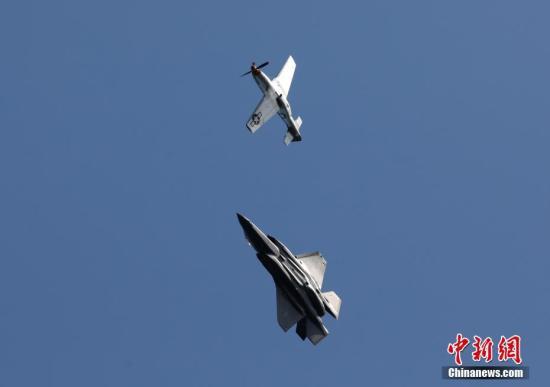 资料图:美国战斗机。 <a target='_blank' href='http://www.chinanews.com/'>中新社</a>记者 刘关关 摄