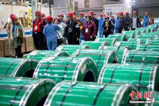 资料图:钢铁工厂。 <a target='_blank' href='http://www.chinanews.com/'>中新社</a>记者 韦亮 摄