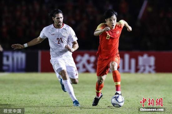北京时间10月15日晚的世预赛40强赛中,国足客场0:0憾平菲律宾。 图片来源:视觉中国
