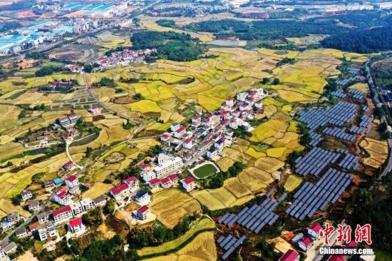 资料图:航拍江西南昌秀美乡村。刘占昆 摄