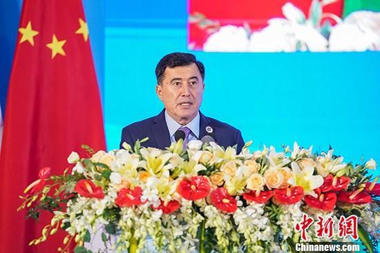 资料图:上海合作组织秘书长诺罗夫。 /p中新社记者 陈冠言 摄