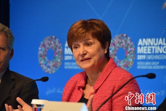 资料图:国际货币基金组织(IMF)总裁格奥尔基耶娃。<a target='_blank' href='http://www.chinanews.com/'>中新社</a>记者 沙晗汀 摄