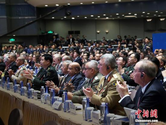 资料图:10月21日,第九届北京香山论坛在北京国际会议中心开幕。<a target='_blank' href='http://www.chinanews.com/'>中新社</a>记者 宋吉河 摄