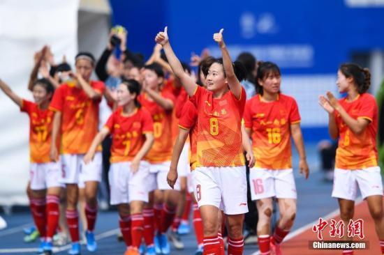 中国八一女足2:1击败巴西女足晋级决赛
