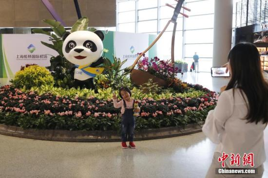 资料图:第二届中国国际进口博览会开幕在即,上海迎接八方来宾。<a target='_blank' href='http://www.chinanews.com/'>中新社</a>记者 殷立勤 摄