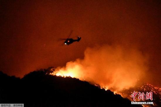 <b>美加州野火蔓延:施瓦辛格半夜撤离、电影首映礼取消</b>