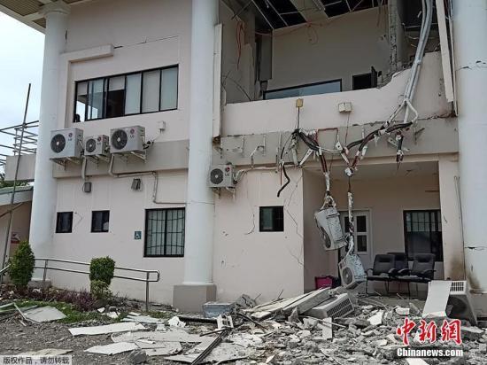 资料图:当地时间10月29日上午9时4分许,菲律宾南部棉兰老岛发生6.6级地震,已造成多人死伤。
