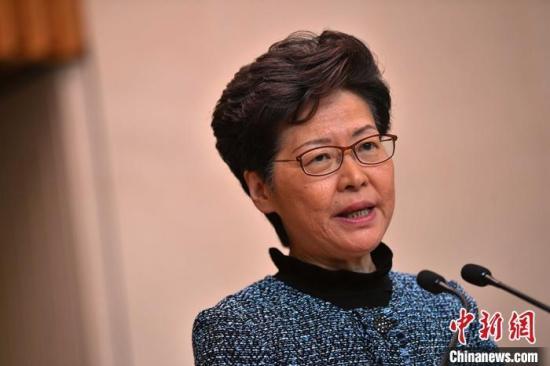 资料图:香港特区行政长官林郑月娥。中新社记者 麦尚�F 摄