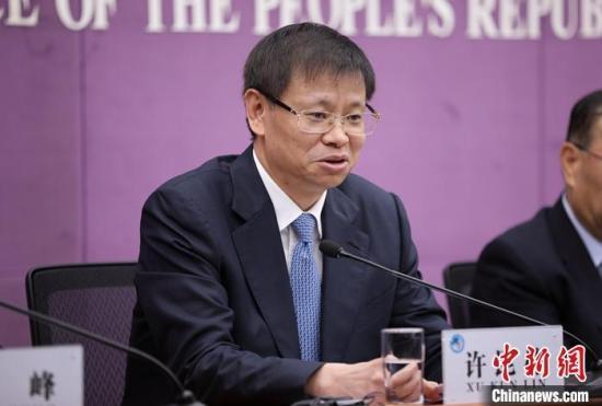 资料图:许昆林。/p中新社记者 赵隽 摄