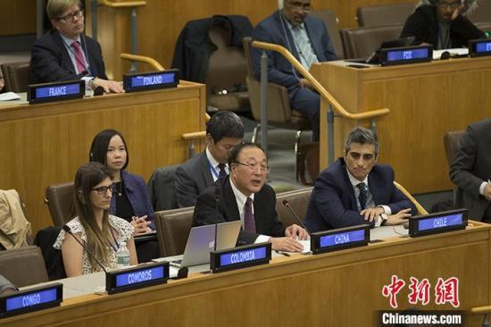 中国代表就人权问题向媒体阐述中方立场