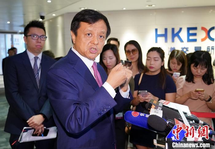 資料圖:香港交易所行政總裁李小加。<a target='_blank' href='http://www.chinanews.com/'>中新社</a>記者 張煒 攝