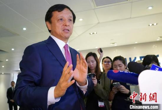 资料图:香港交易所行政总裁李小加。<a target='_blank' href='http://www.chinanews.com/'>中新社</a>记者 张炜 摄