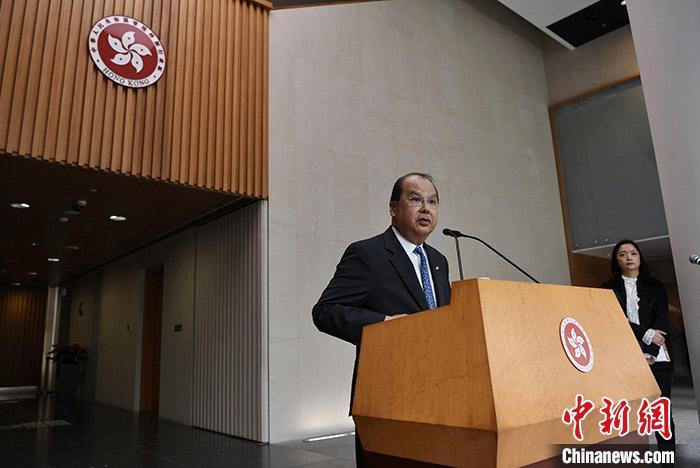 资料图:香港特区署理行政长官张建宗。<a target='_blank' href='http://www.chinanews.com/'>中新社</a>记者 麦尚旻 摄