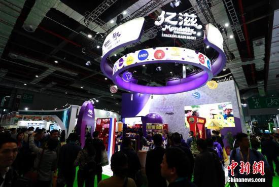 资料图:第二届中国国际进口博览会上,美国企业参展面积达4.75万平方米,位居各国首位。<a target='_blank' href='http://www.chinanews.com/'>中新社</a>记者 汤彦俊 摄
