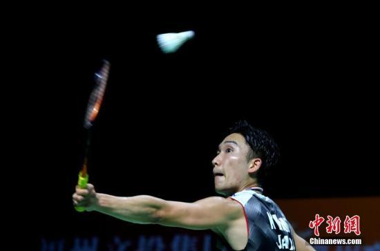 资料图:桃田贤斗在比赛中。<a target='_blank' href='http://www.chinanews.com/'>中新社</a>记者 吕明 摄