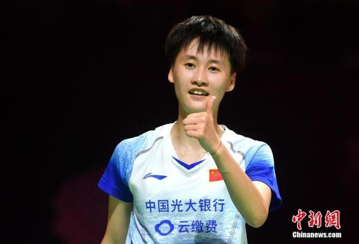 资料图:陈雨菲。/p中新社记者 吕明 摄