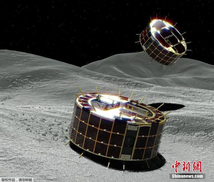 """资料图:""""隼鸟2号""""探测器。"""