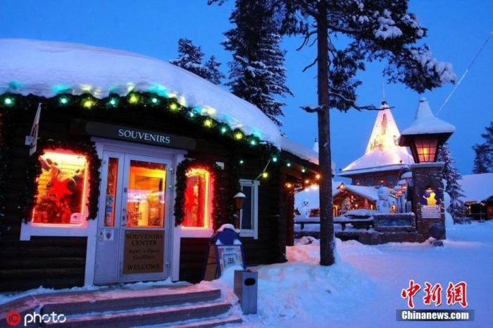 资料图:芬兰罗瓦涅米圣诞老人村。图片来源:IC photo