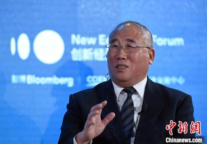 11月21日,2019年创新经济论坛在北京举行,中国气候变化事务特别代表解振华在《气候变化与气候行动:拯救世界》环节发言。中新社记者 侯宇 摄