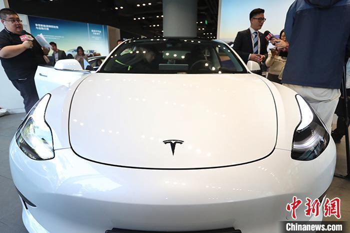 资料图:特斯拉Model 3。 /p中新社记者 张亨伟 摄