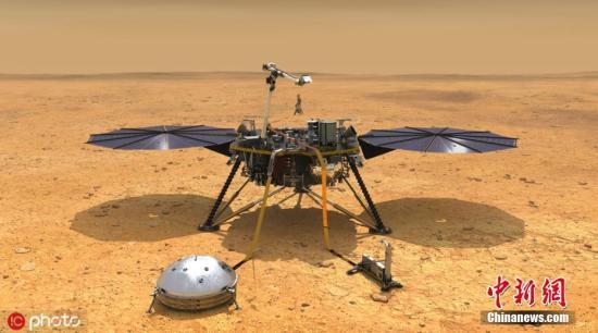 """美国""""洞察""""号火星探测器团队日前表示,因故障暂停工作的火星温度测量装置近日又恢复了运行,继续下探作业以测量火星""""体温""""。图片来源:IC photo"""