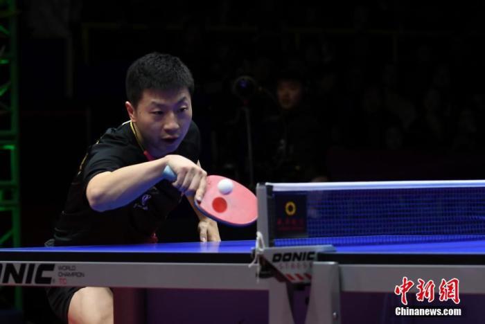 中国选手马龙在比赛中。安源 摄