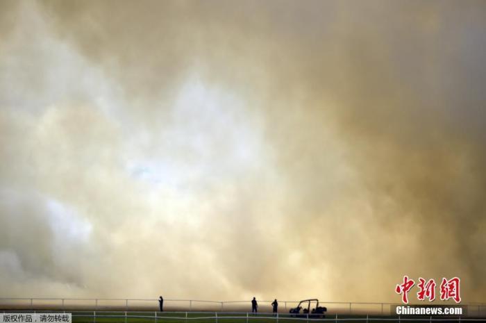 澳大利亚森林大火持续失控,浓烟缭绕。