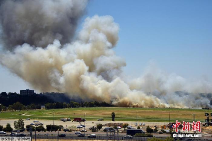 当地时间12月13日,澳大利亚珀斯一板球体育场外,森林大火熊熊燃烧。据悉,这个圣诞季,澳大利亚珀斯将遭遇前所未有的热浪侵袭,从12日起,预计连续4日的气温将突破40摄氏度,至少持续到15日。此前,珀斯从未在12月份,连续两天以上突破40摄氏度高温。
