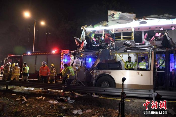 香港突发车祸致6死39伤司机被捕 近年巴士意外频发