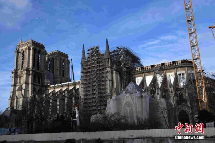 内地时间2019年12月22日,巴黎圣母院修复事情告急举办中。/p阳光在线官网记者 李洋 摄