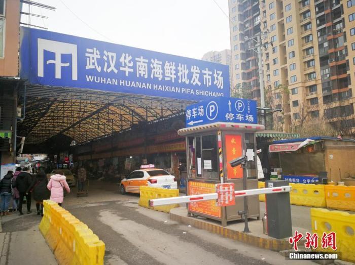 多例肺炎病例关联地武汉华南海鲜批发市场。中新社记者 张畅 摄