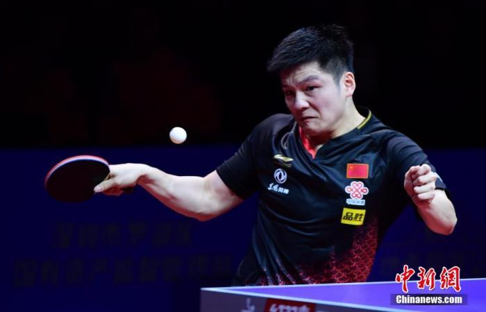 资料图:樊振东在比赛中。中新社记者 陈文 摄