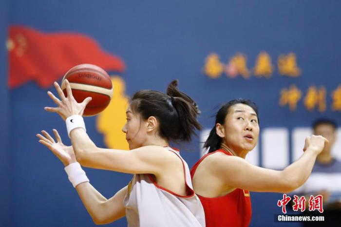 资料图:中国女篮在训练中。<a target='_blank' href='http://www.chinanews.com/'>中新社</a>记者 盛佳鹏 摄