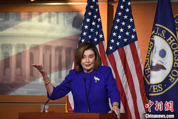 资料图:美国众院议长佩洛西。 <a target='_blank' href='http://www.chinanews.com/'>中新社</a>记者 沙晗汀 摄