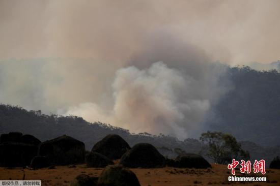 当地时间1月11日,澳大利亚新南威尔士州上空烟雾弥漫。