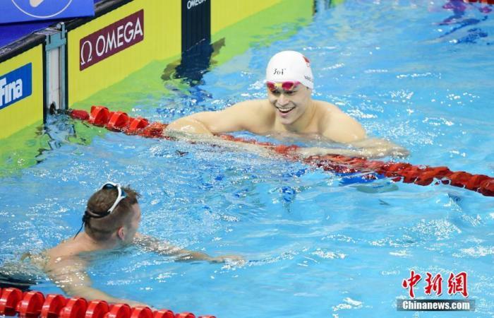 资料图:图为孙杨在2020年FINA冠军游泳系列赛(深圳站)比赛中。<a target='_blank' href='http://www.chinanews.com/'>中新社</a>记者 陈文 摄