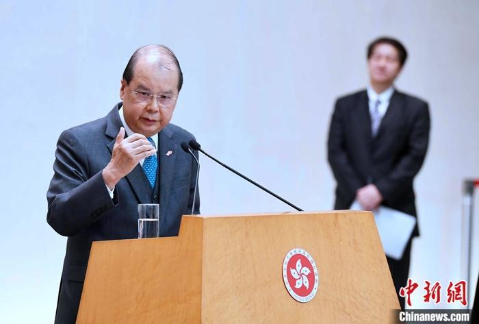 """张建宗:涉港国安立法进一步巩固""""一国两制"""""""