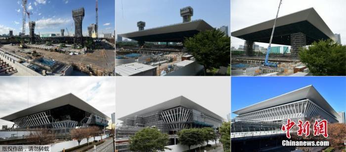 距2020年日本东京奥运会开幕还有6个月左右的时间,工作人员正对对位于两个主要区域的43个奥运场馆进行最后的修饰。一组对比图片带你了解2020年奥运会场馆变迁过程,看东京天际线日渐充盈。图为2018年2月6日至2019年11月2日,东京奥林匹克水上运动中心的对比图片。