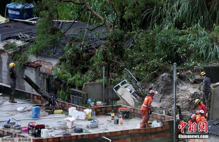 巴西东南部遇创纪录暴雨 致53死上万人流