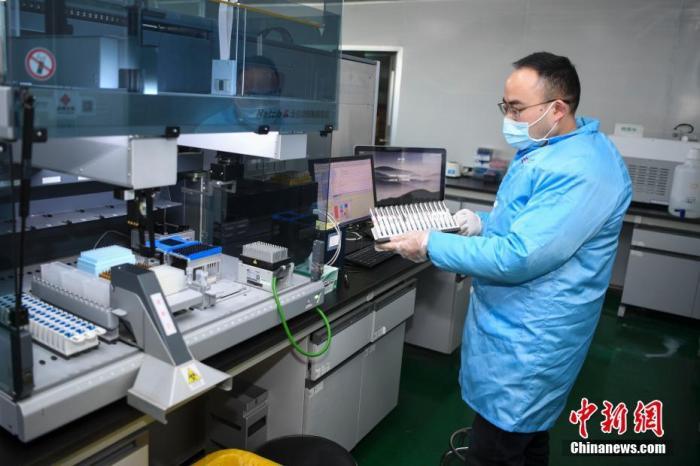 资料图:科研人员正在进行试剂盒进一步研发的实验。中新社记者 杨华峰 摄