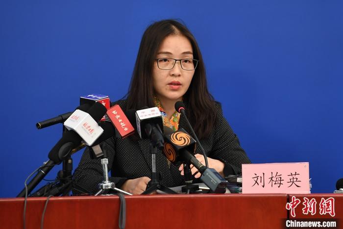 1月31日,北京市举行新型冠状病毒感染的肺炎疫情防控工作新闻发布会。图为北京市商务局副局长刘梅英在发布会上介绍相关情况。<a target='_blank' href='http://www.chinanews.com/'>中新社</a>记者 崔楠 摄
