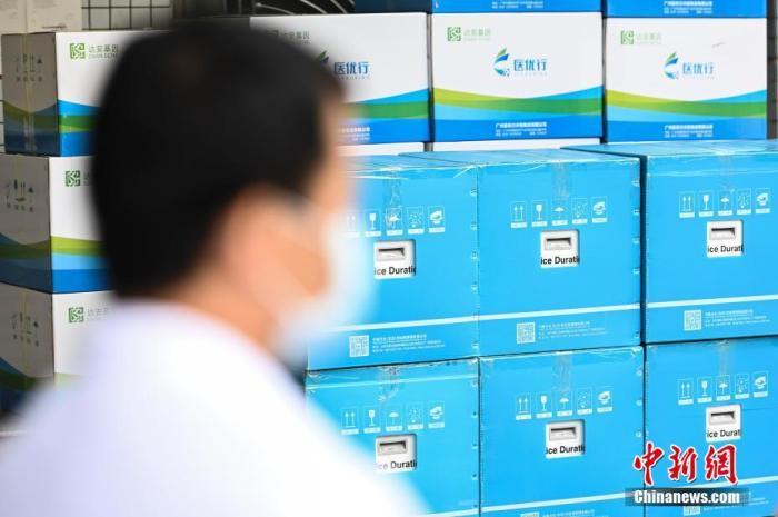 2月2日,一辆装载新型冠状病毒检测试剂和配套医疗设备的货车从广州出发,驰援武汉。图为新型冠状病毒检测试剂和配套医疗设备。 <a target='_blank' href='http://www.chinanews.com/'>中新社</a>记者 陈骥旻 摄