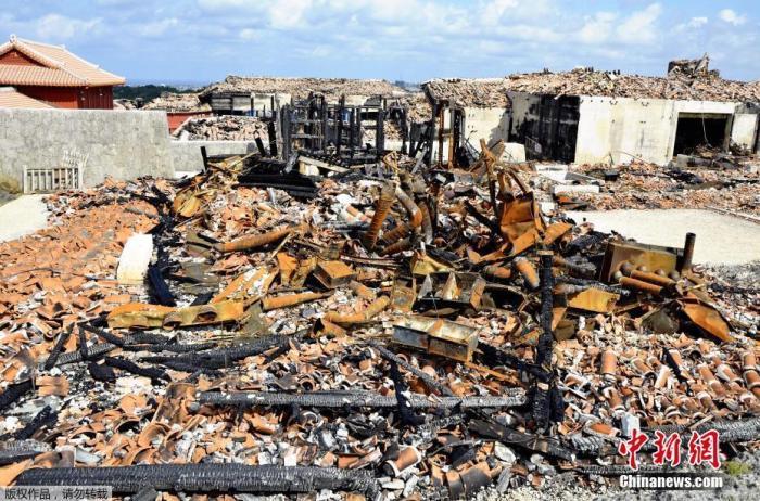 资料图:日本首里城废墟。