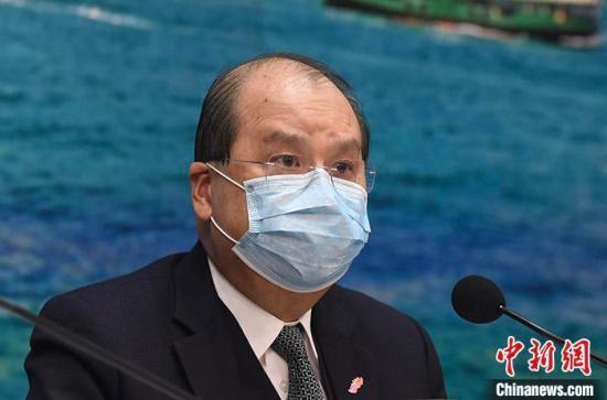 資料圖:香港特區政務司司長張建宗。 <a target='_blank' href='http://www.bbcgj.com/'>中新社</a>記者 麥尚旻 攝