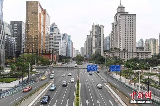 资料图:广州珠江新城中央商务区。a target='_blank' href='http://www.chinanews.com/'中新社/a记者 陈骥旻 摄