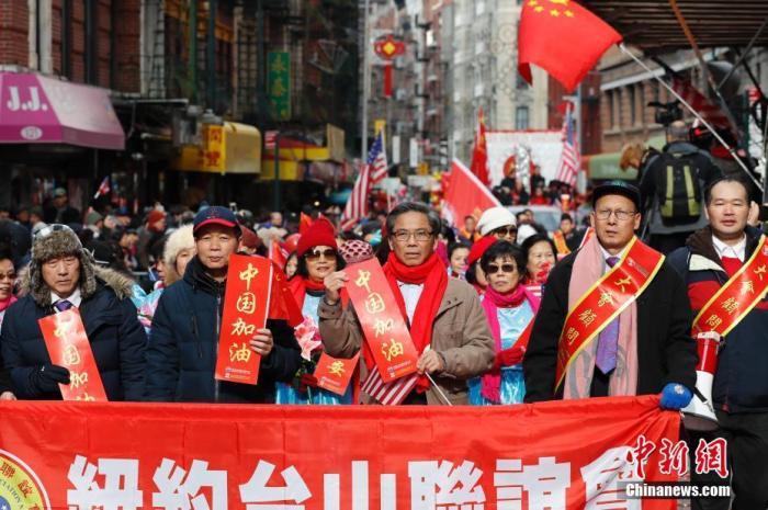 纽约新春大游行为中国加油