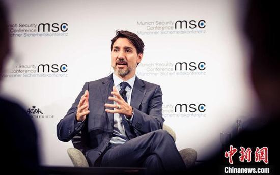 资料图:加拿大总理特鲁多。<a target='_blank' href='http://www.chinanews.com/'>中新社</a>发 MSC/Kuhlmann 摄