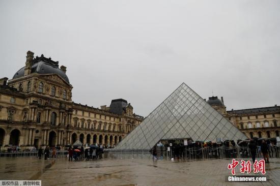 当地时间3月1日,游客在巴黎卢浮宫前等候。法国卢浮宫因工作人员担心新冠肺炎疫情拒绝上班而被迫闭馆,目前不清楚何时能够重新开放。据法新社报道,与新冠肺炎预防措施有关的公共卫生状况信息发布会,导致卢浮宫1日无法开馆。