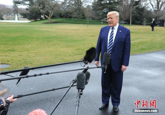 资料图:美国总统特朗普。/p中新社记者 陈孟统 摄
